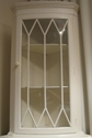 Glass-fronted corner cabinet - SOLD