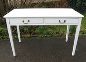 Lovely period writing desk with two drawers - ready for final finishing - SOLD