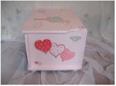 Pink toy box and child's chair, hand-painted - SOLD