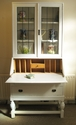 Writing bureau desk and cabinet / bookcase - SOLD