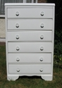 White 6 drawer chest of drawers - SOLD