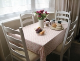 White table and chairs set, useful for many occasions - SOLD