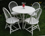 A lovely round wooden table and chair set - SOLD