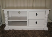 White television unit with shelves and drawers - SOLD