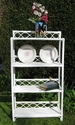 White wicker shelf unit with 4 shelves - SOLD
